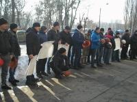 Горняки Сухой Балки протестовали в Киеве